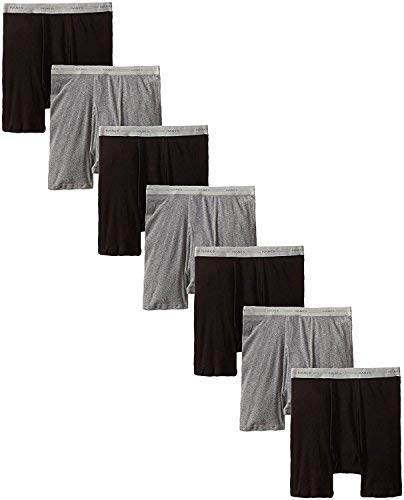 byHanes Hanes Mens Boxer Brief with Comfort Flex Waistband (2349B7) (Black/Grey - 7 Pack, X-Large (40-42 Waist)) by Hanes