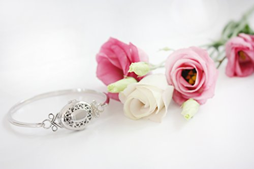 With You Lockets Sterling Silver-Oval-Custom Photo Locket- Bangle Bracelet-The Aubrey by With You Lockets (Image #3)