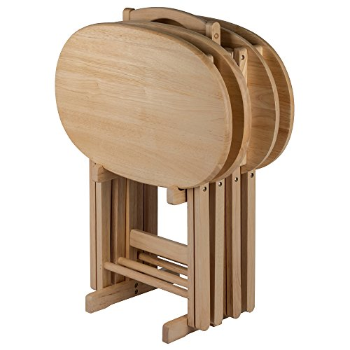 Winsome Wood 83524 Nathan 5-PC Set Natural Snack Table