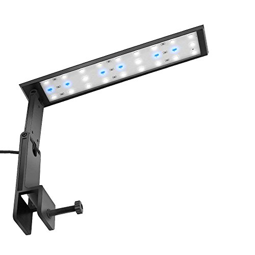 (FTALGS LED Aquarium Light Clamp Kit Aquarium Plants Blue and White Fish Tank Lamp Bracket with Touch Control and 3 Dimmable Modes (12''x20''))