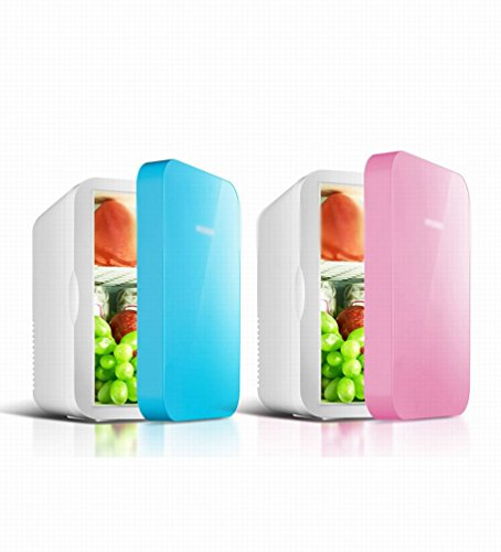 HOMEE @ Car Refrigerator 6L Small Household Mini-Mini-House Mini Car Home Dual-Use Heating Device,Pink,6L by HOMEE @ (Image #1)
