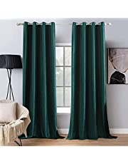 MIULEE 2 Panels Velvet Curtains Solid Soft Grommet Curtains Thermal Soundproof Blockout Room Darkening Curtains/Drapes/Panels for Living Room Bedroom …