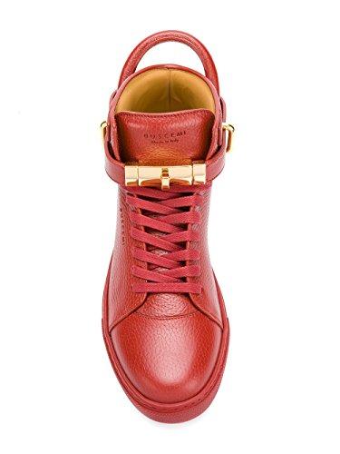 Buscemi Uomo 417sm100lw450a0045 Sneakers Alte In Pelle Rossa