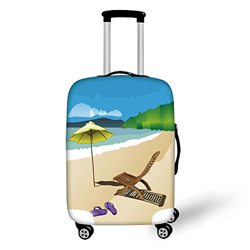 Travel Luggage Cover Suitcase Protector,Summer,Beach for sale  Delivered anywhere in USA