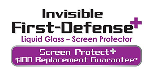 Qmadix Liquid Glass Screen Protector – $100 Screen Replacement Guarantee – Invisible First-Defense+ Liquid Glass Screen Protector for Your Phone or Tablet – Retail Packaging