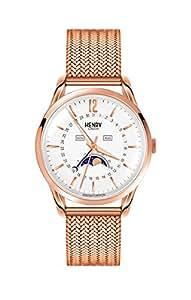 Henry London HL39-LM-0162 Richmond White Rose Gold Watch