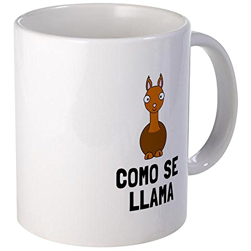 CafePress - Como Se Llama Mugs - Unique Coffee Mug, Coffee (Tina The Llama Costume)
