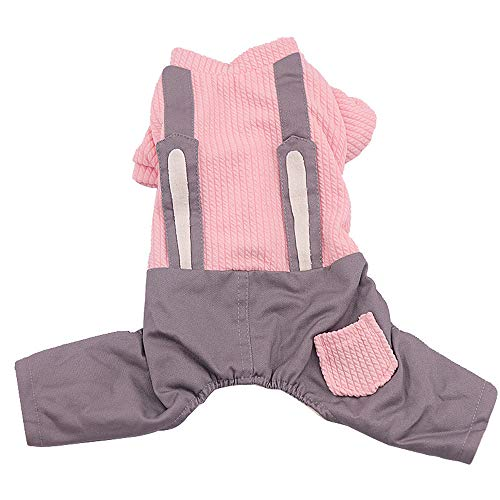 Pet Puppy Rabbit Outfit Costume Dog Bib Vest Clothes Winter Sweater Jacket Coat Bunny Ears Small Dogs Cats