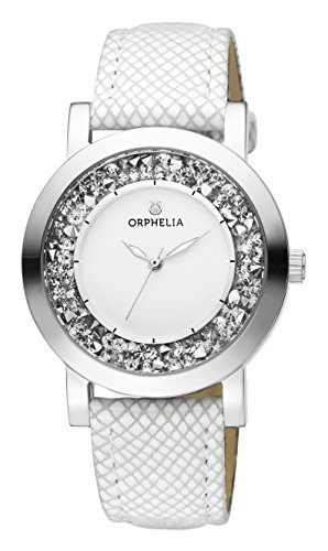ORPHELIA Hermosa Women's White Leather watch-OR11700