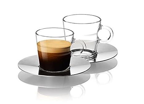 Superieur Nespresso Set Glass Collection Espresso Cups U0026 Saucers,A U0026 P Cahen  Design,New