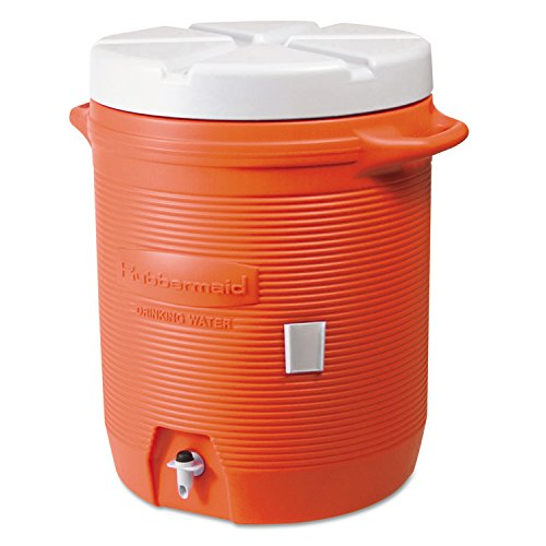 Rubbermaid Home Products 1840999 Water Coolers, 5 gal, Orange (Rubbermaid Small Cooler)