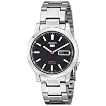 Seiko Men's SNK795 Seiko 5 Automatic Black Dial Stainless Steel Bracelet Watch