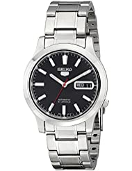 Seiko Mens SNK795 Seiko 5 Automatic Stainless Steel Watch with Black Dial
