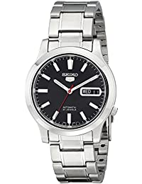 Mens SNK795 Seiko 5 Automatic Stainless Steel Watch with Black Dial