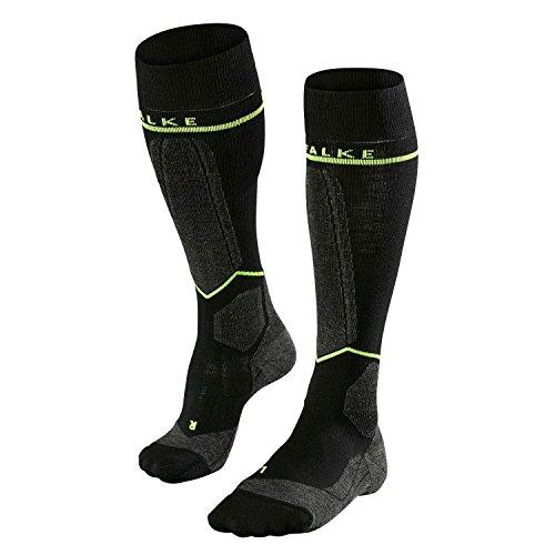 Men's Falke SK Energizing Ski Sock-Black Lightening-EURO SIZE 43-46 /US SIZE M by