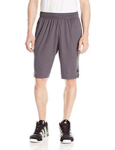 adidas Performance Men's 3G Speed Shorts, Dark Grey Heather Solid Grey/White/Black, Medium