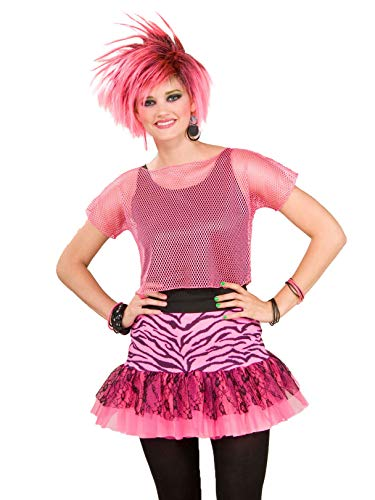 Woman's Rocker Mesh Top, Pink, One Size Costume