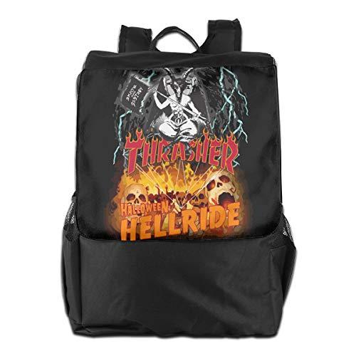 Diamond Thrasher Halloween Hellride Unisex Laptop Travel Backpack College School Bookbag Black