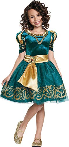 Child Girls Brave Movie Merida Classic Dress W/Character Cameo Halloween Costume ()
