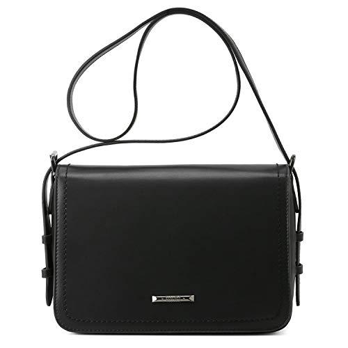 Square Flap Purse - ECOSUSI Women's Crossbody Shoulder Bags Fashion FlapoverPurse with Adjustable Shoulder Strap, Black