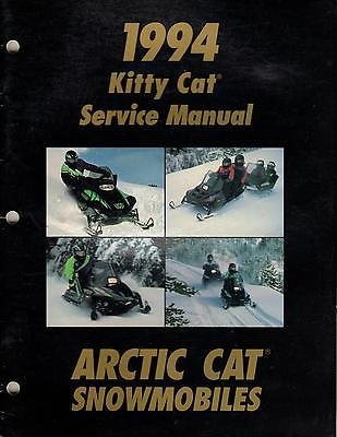1994 ARCTIC CAT KITTY CAT SNOWMOBILE SERVICE MANUAL P/N 2254-998 (238)