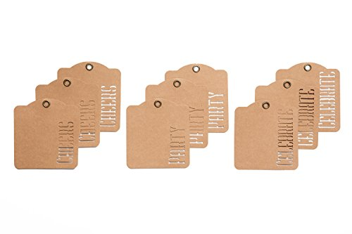 Cheer Chipboard - Graphic 45 4501277 Cheers, Party, Celebrate Kraft Tags