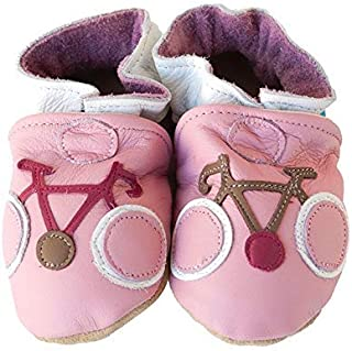 product image for LE TOUR (Pink) Handmade in USA, All-Natural Leather Baby Shoes.