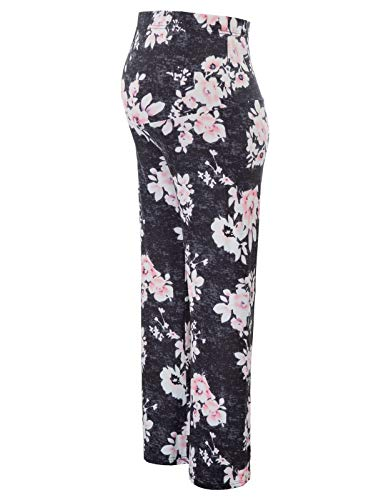 Women's Maternity Wide Comfy Palazzo Lounge Pants Stretch Pregnancy ()