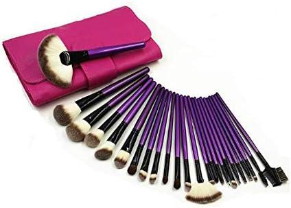 メイクブラシセット24個紫色のメイクブラシは、紫色のハンドルバックルメイクツールセットの多機能化粧ブラシ美容ツールを設定します