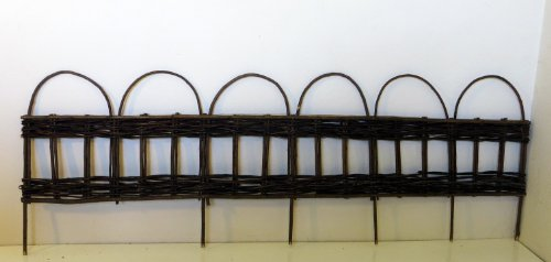 Woven Willow Edging with Vertical Sections Pattern & Loop, (16