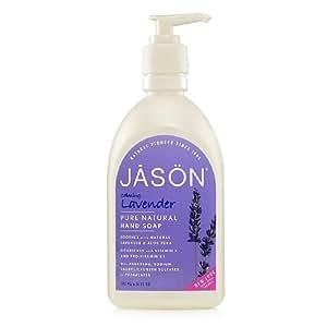 JASON NATURAL PRODUCTS LIQ SOAP,SATIN,LAVENDER, 16 FZ