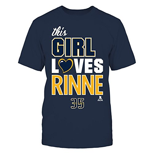 Pekka Rinne Love Blue Men's Tee - Officially Licensed Fashion Sports Apparel
