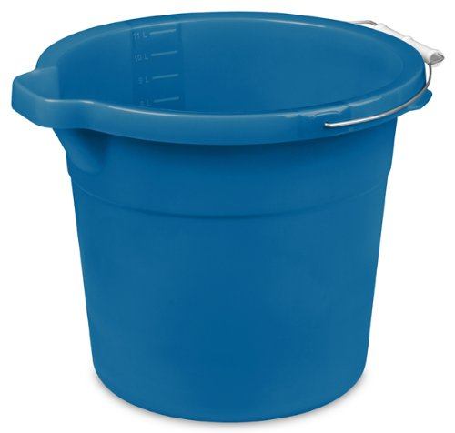 Sterilite 1123431212Quart/11,4Litro cubeta de boquilla, color azul acuario, 12-pack