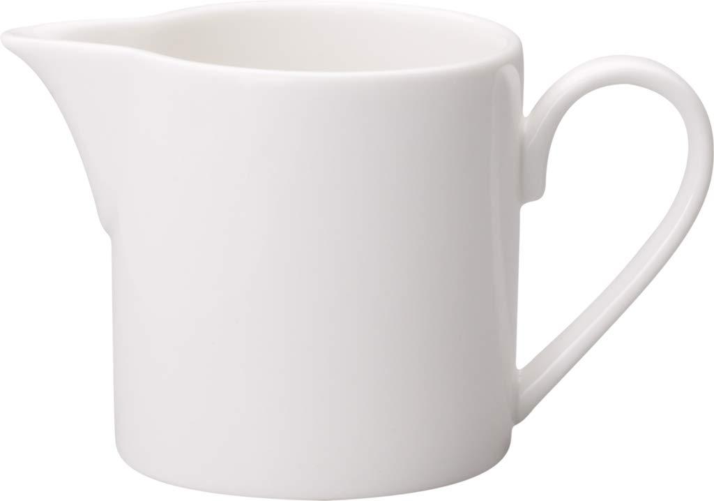 Villeroy & Boch Twist White Milchkännchen, Premium Porzellan, Weiß