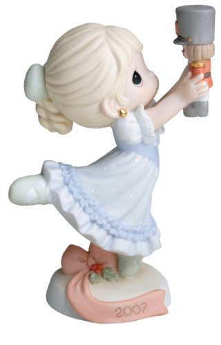 precious moments dancing for joy on christmas morning 2007 annual holiday figurine - Precious Moments Christmas Ornaments