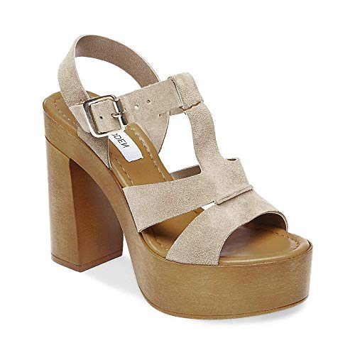 Suede Us 10 Steve Taupe Women's Dress Madden 0 Lucile Open wxAPIz6TqA