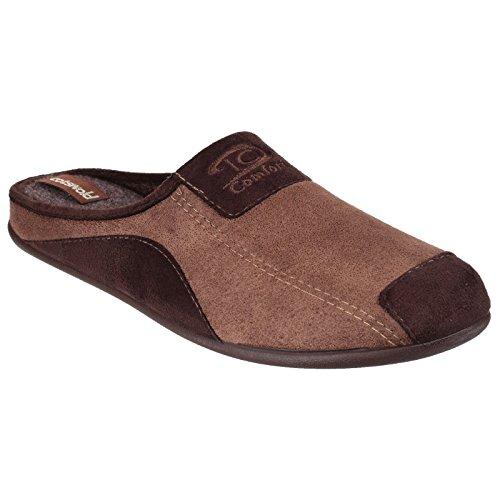 Cotswold Mens Westwell Slip On Mule Pantofole Marrone