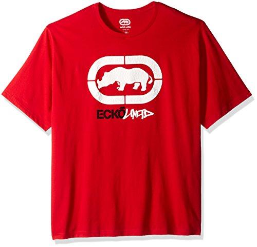 Ecko Unlimited Rhino - Ecko Unlimited Men's Raised Rhino Tee, Red, 3XB