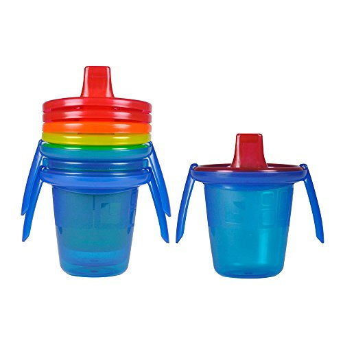 (The First Years Take & Toss Spill-Proof Sippy Cups with Removable Handles, 7 Ounce, 4 Pack)