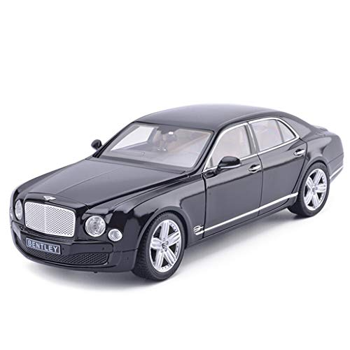 SXET-Model car Model Car Die-Casting Model Alloy Model 1:18 Bentley Mulsanne Sedan Model Collection Decoration Model (Color : Black)