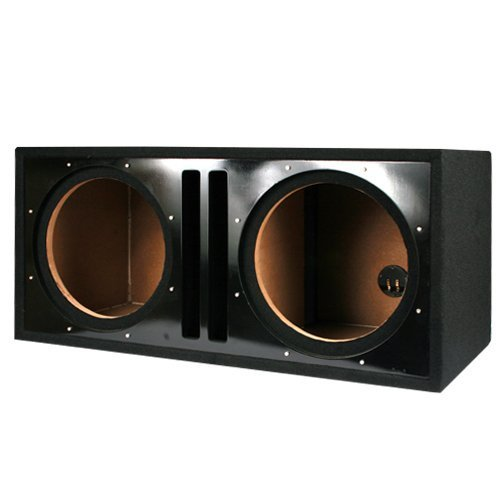 Absolute USA PDEB10BK Dual 10-Inch, 3/4-Inch MDF Twin Port Subwoofer Enclosure with Black High Gloss Face Board