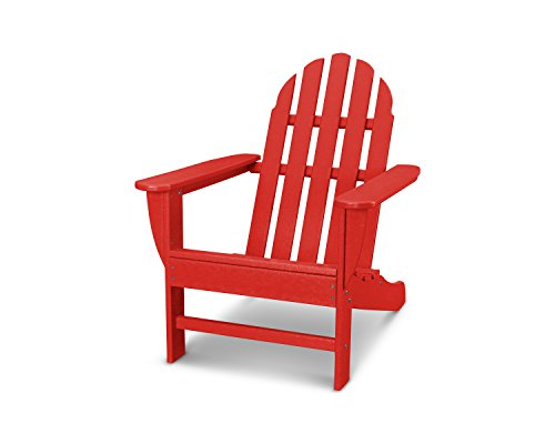- POLYWOOD AD4030SR Classic Outdoor Adirondack Chair, Sunset Red