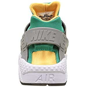 Nike Men's Air Huarache Black/White/Emerald/Resin Running Shoe 9.5 Men US