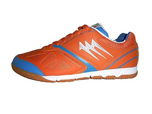 AGLA - Zapatillas de fútbol sala de Material Sintético para hombre Media naranja