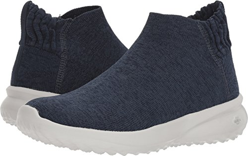 Top Blue High (Skechers Go City 3.0 Sensible Womens Slip On Sneaker Bootie Navy 10)