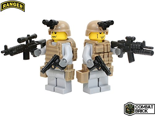 US Army Rangers 2 men Special Forces Recon Patrol pack - Custom Army Builder Military Minifigures by (Force Recon Vest)