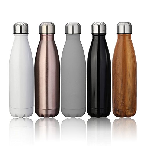 ARC fitness project 17 ounce 500ml Double Wall Vacuum Cool Insulation Stainless Steel Water Bottle Leak-proof and No Sweating. Chilled for 24hrs Hot for 12 hours. 100% BPA-FREE