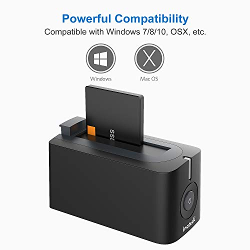 Inateck USB 3.0 Hard Drives Docking Station for 2.5 Inch and 3.5 Inch HDD SSD SATA (SATA I / II / III), Support UASP and 10TB Drives, Optimized for SSD(FD1003) by Inateck (Image #4)