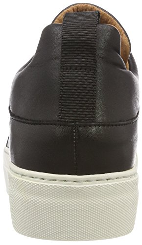 Slipon Black Slfann Negro Zapatillas Mujer Leather Femme Black para B Selected z7wqtTw
