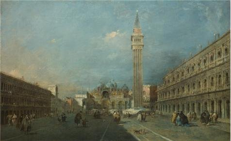 Yankee Doodle Dance Costume (High Quality Polyster Canvas ,the Amazing Art Decorative Canvas Prints Of Oil Painting 'Francesco Guardi - Venice - Piazza San Marco,after 1780', 24x39 Inch / 61x100 Cm Is Best For Garage Gallery Art And Home Decor And Gifts)